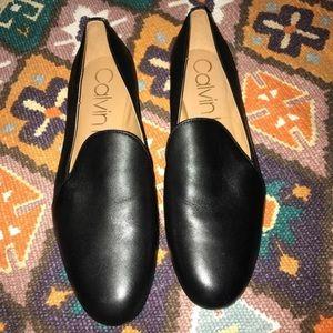 Calvin Klein Black Flats LIKE NEW